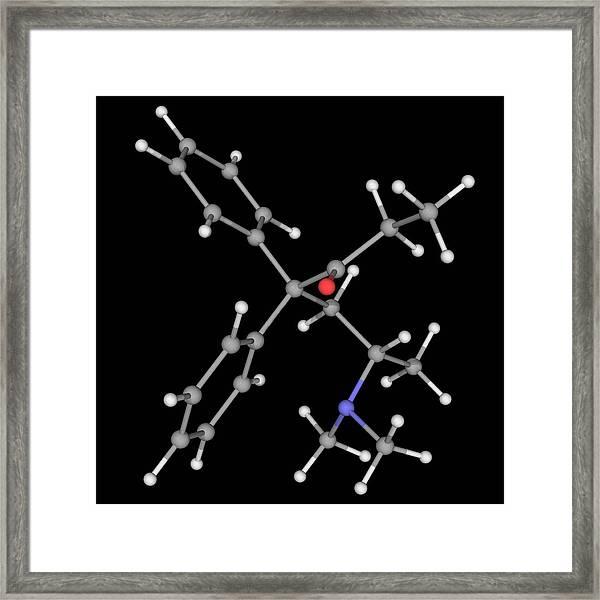 Methadone Drug Molecule Framed Print by Laguna Design/science Photo Library