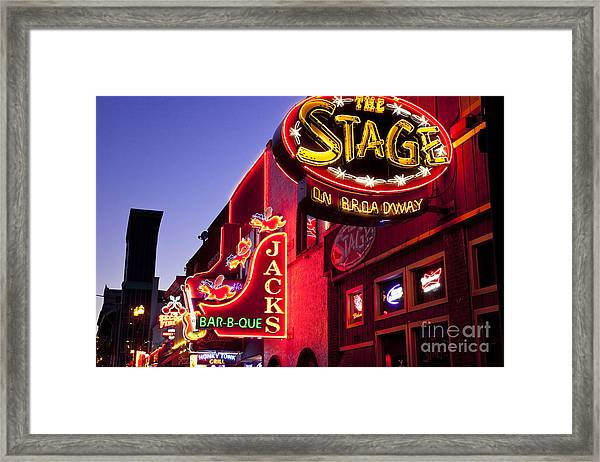Framed Print featuring the photograph Music City Usa by Brian Jannsen