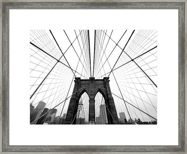 Nyc Brooklyn Bridge Framed Print