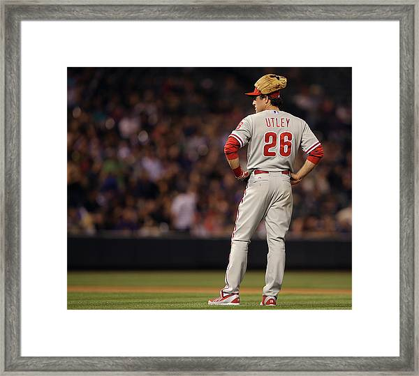 Philadelphia Phillies V Colorado Rockies Framed Print