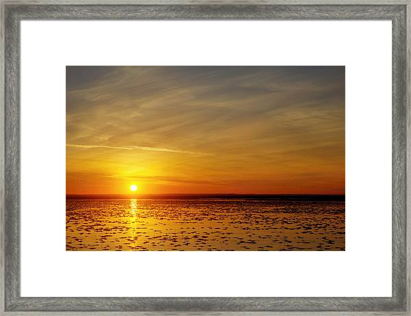 Framed Print featuring the photograph Sunset At Cheyenne Bottoms by Rob Graham