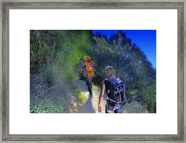 5 Terre Monterosso Trekking In Passeggiate A Levante Framed Print
