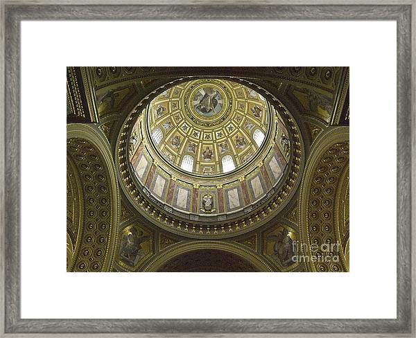 The Interior Of The Church Framed Print