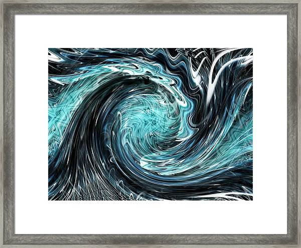 Framed Print featuring the digital art The New Wave by Mihaela Stancu