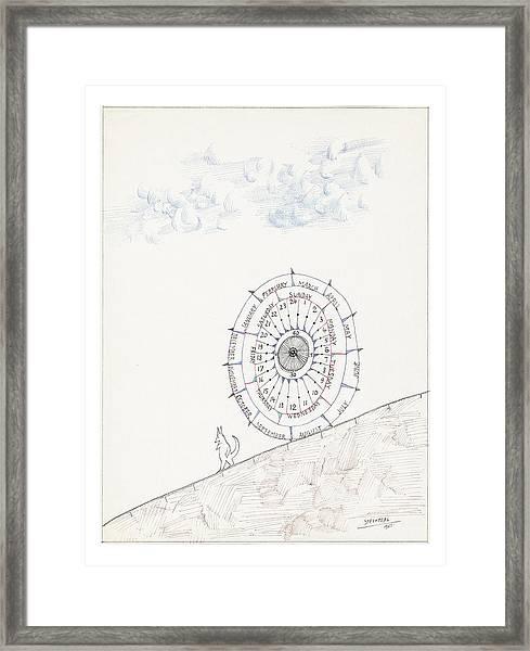 Sketchbook By Saul Steinberg Framed Print