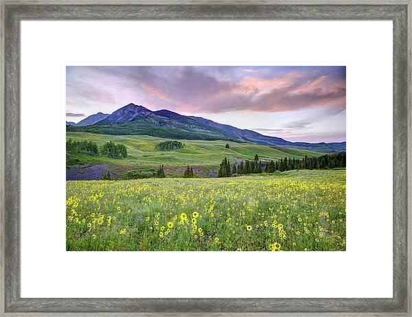 Usa, Colorado, Crested Butte Framed Print