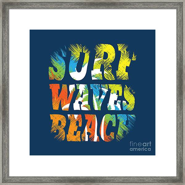 Vector Illustration On The Theme Of Framed Print by Serge Geras