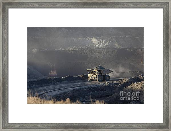 Wyoming Coal Mine Framed Print