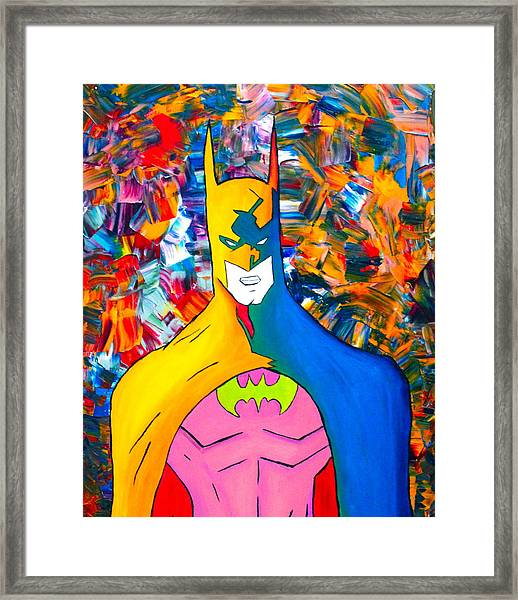 50/50 Batman Framed Print