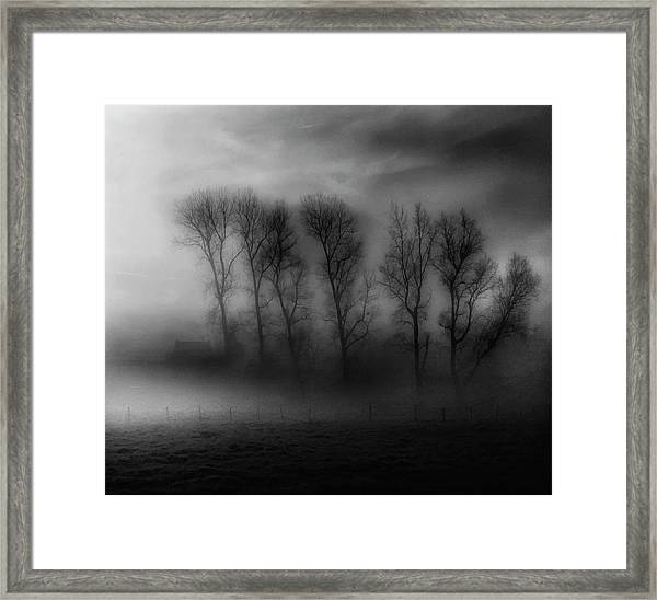 50 Shades Of Fog Framed Print