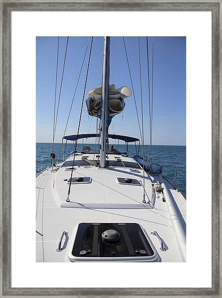 Framed Print featuring the photograph 51 Footer  by Debbie Cundy