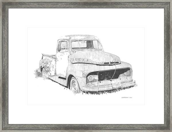 '53 Ford Framed Print by Paul Shafranski