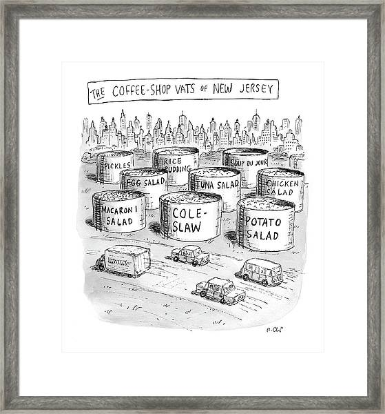 The Coffee Shop Vats Of New Jersey Framed Print