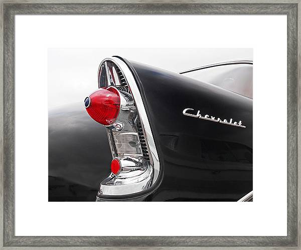 56 Chevy Rear Lights Framed Print
