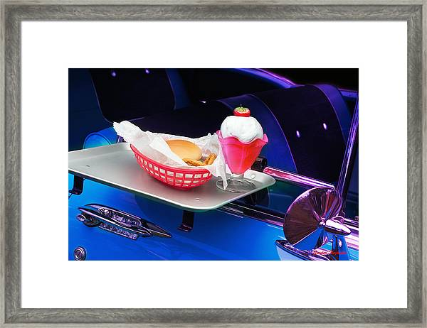 57 Chevy At A Drive-in Framed Print