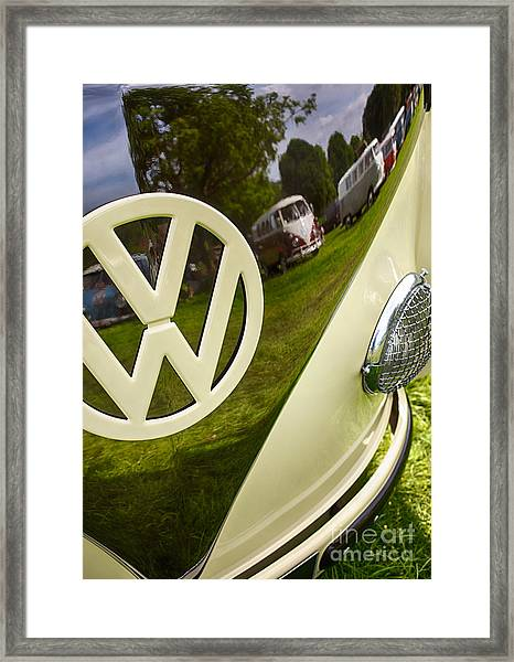 57 Vw Reflections Hdr Framed Print