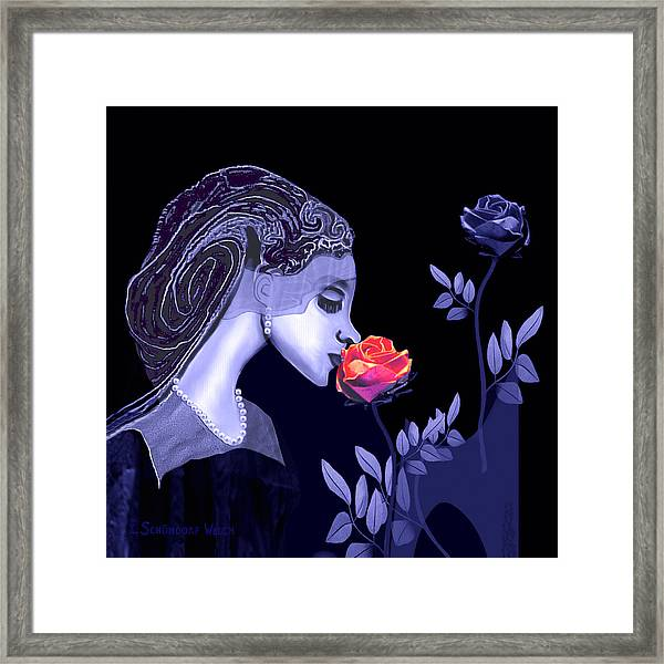 590 Flavour Of The Rose Framed Print by Irmgard Schoendorf Welch