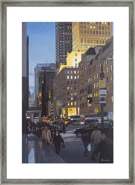 5th At Twilight Framed Print
