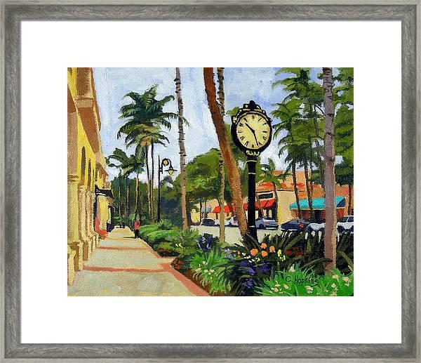 5th Avenue Naples Florida Framed Print
