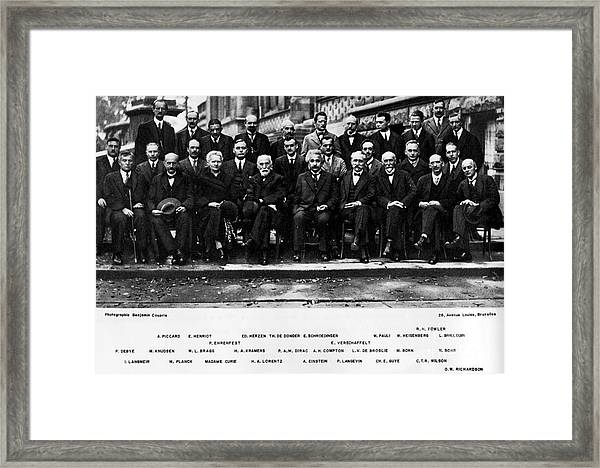 5th Solvay Conference Of 1927 Framed Print