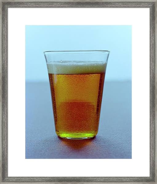 A Glass Of Beer Framed Print