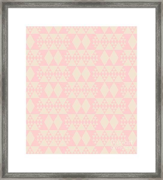 Abstract Retro Pattern. Vector Framed Print