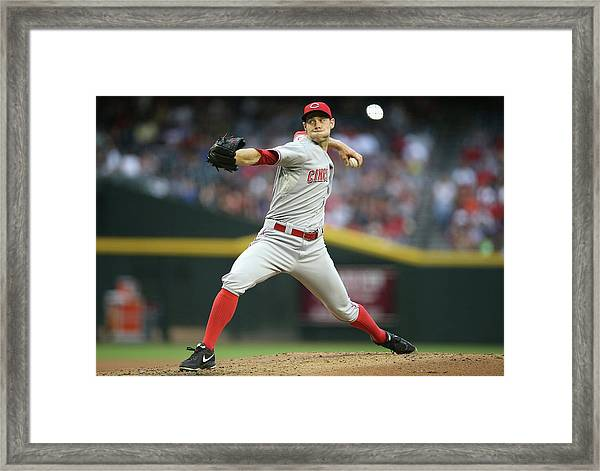 Cincinnati Reds V Arizona Diamondbacks Framed Print