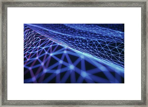 Connecting Lines Framed Print by Ktsdesign/science Photo Library