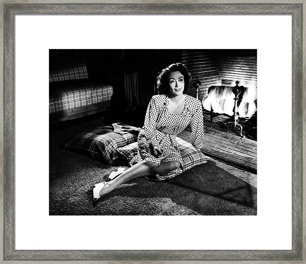 Joan Crawford Framed Print by Silver Screen