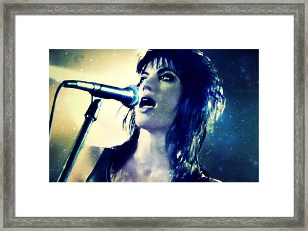 Joan Jett Framed Print