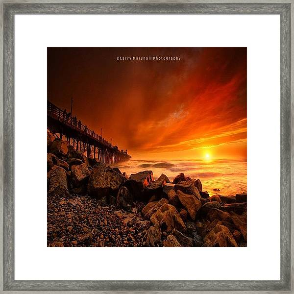 Long Exposure Sunset At A North San Framed Print