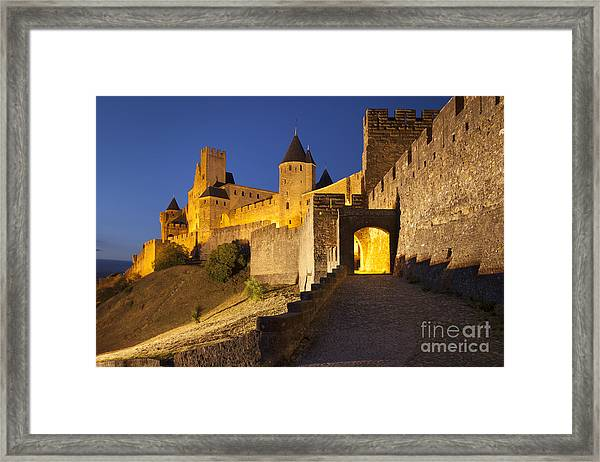 Framed Print featuring the photograph Medieval Carcassonne by Brian Jannsen
