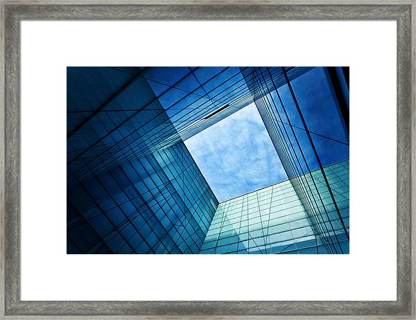 Modern Glass Architecture Framed Print by Nikada