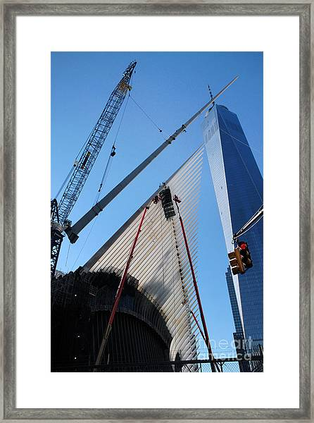 Oculus Wtc Construction Framed Print