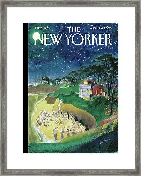 New Yorker August 11th, 2008 Framed Print