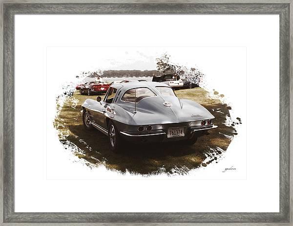 63 Vette Framed Print