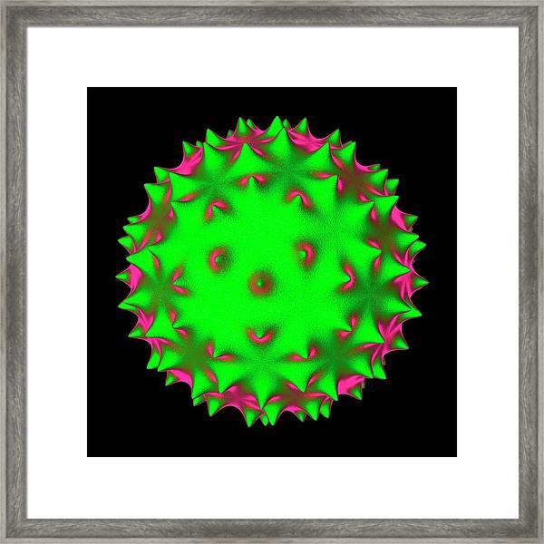 Virus Framed Print by Mehau Kulyk