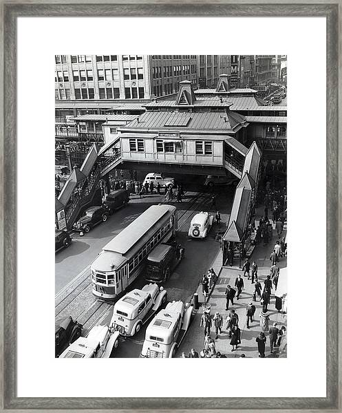 6th Avenue And 42nd Street Framed Print