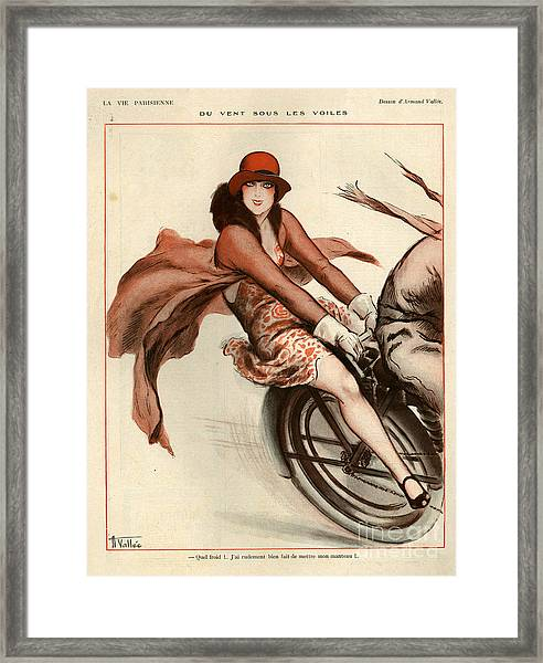 1920s France La Vie Parisienne Framed Print