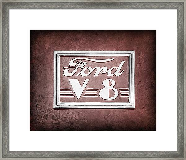 1940 Ford Deluxe Coupe Emblem Framed Print