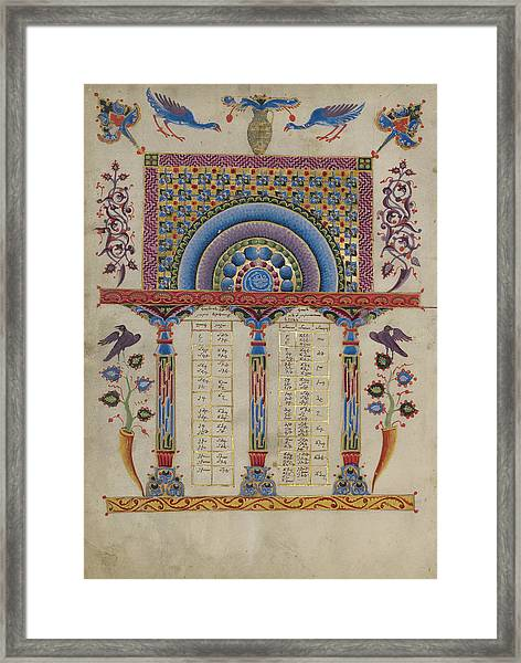 Canon Table Page Toros Roslin, Armenian Framed Print by Litz Collection