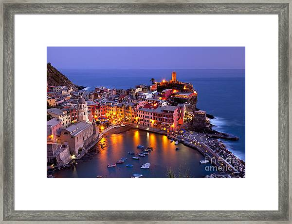 Framed Print featuring the photograph Cinque Terre by Brian Jannsen