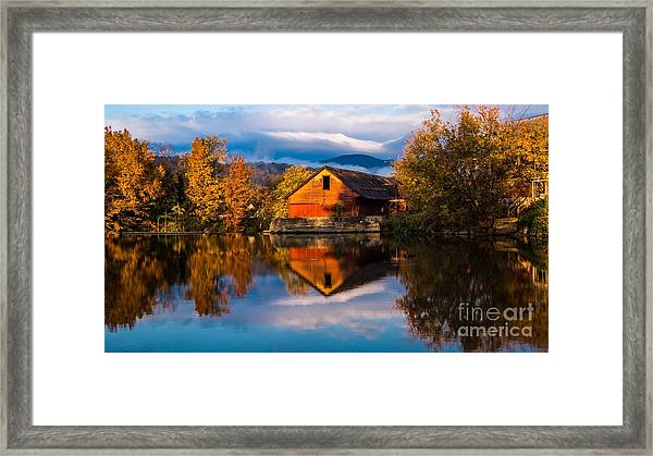 Classic Vermont Foliage. Framed Print
