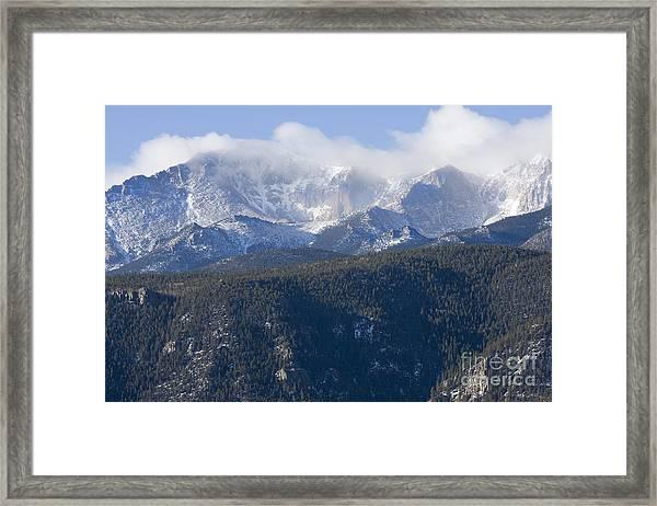 Cloudy Peak Framed Print