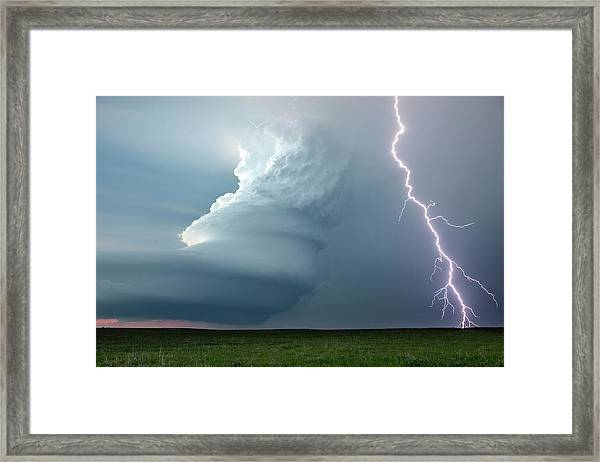 Supercell Thunderstorm Framed Print
