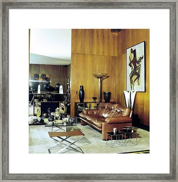 Yves Saint Laurent's Living Room Framed Print by Horst P. Horst
