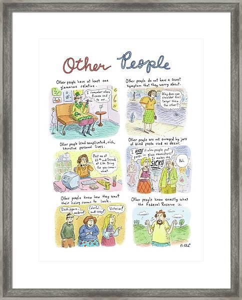Other People Framed Print