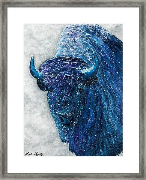 Buffalo  - Ready For Winter Framed Print