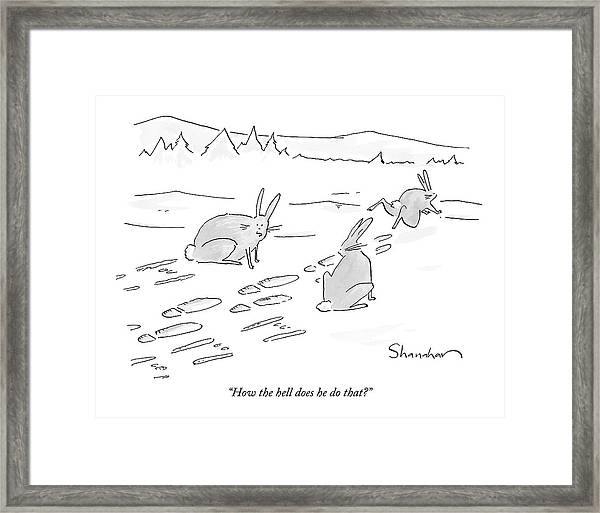 How The Hell Does He Do That? Framed Print