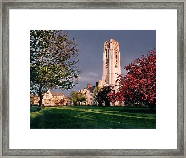 7535 University Of Toledo Bell Tower Framed Print